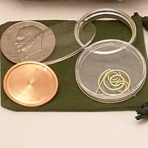 Hollow Coin with Opener and Test Samples